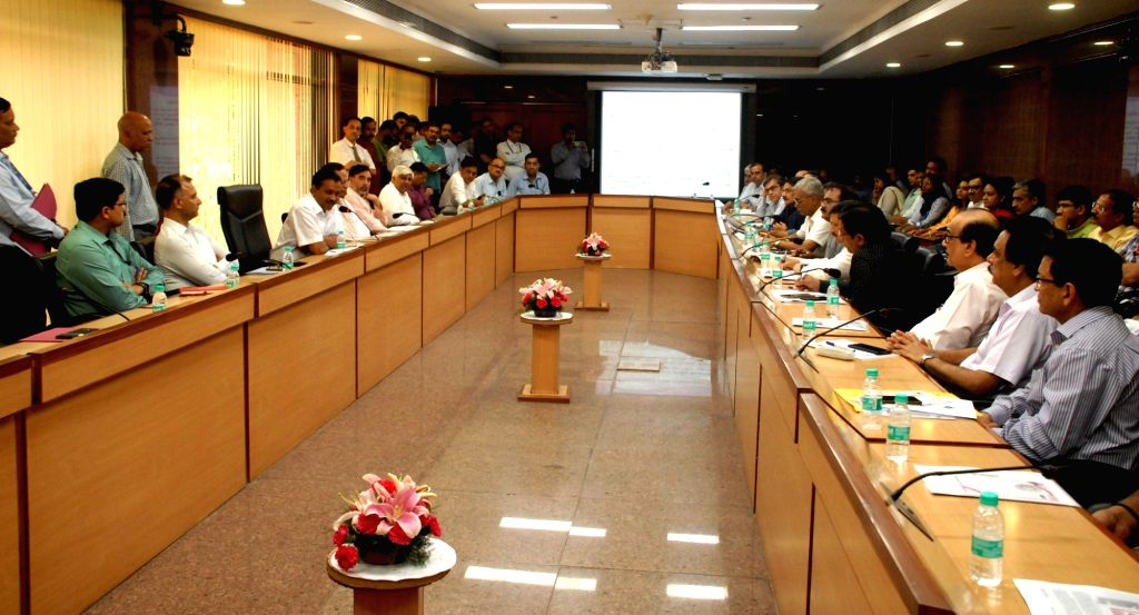Delhi Chief Minister Arvind Kejriwal chairs a meeting to review preparedness for vector borne diseases like Dengue, Chinkungunya and Malaria, in New Delhi on June 20, 2019. The meeting was attended by the ministers of the cabinet and representatives  - Arvind Kejriwal