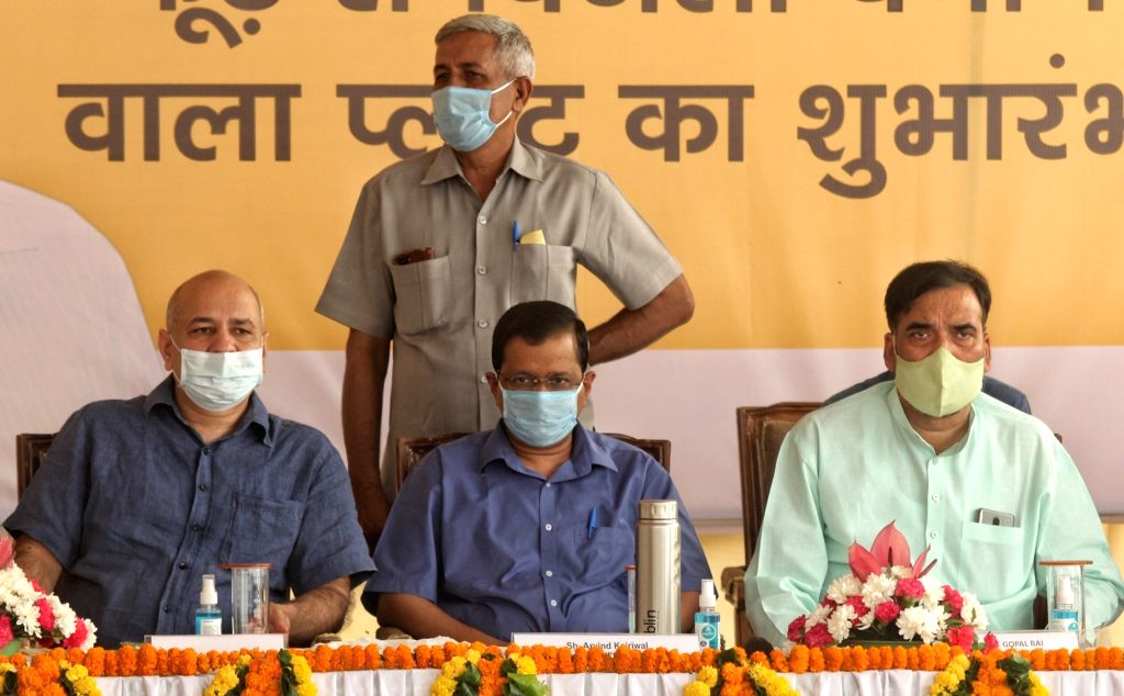 Delhi Chief Minister Arvind Kejriwal, Deputy Chief Minister Manish Sisodia and Employment, Development, Labour, General Administration and Irrigation Minister Gopal Rai at the inauguration ... - Arvind Kejriwal and Gopal Rai