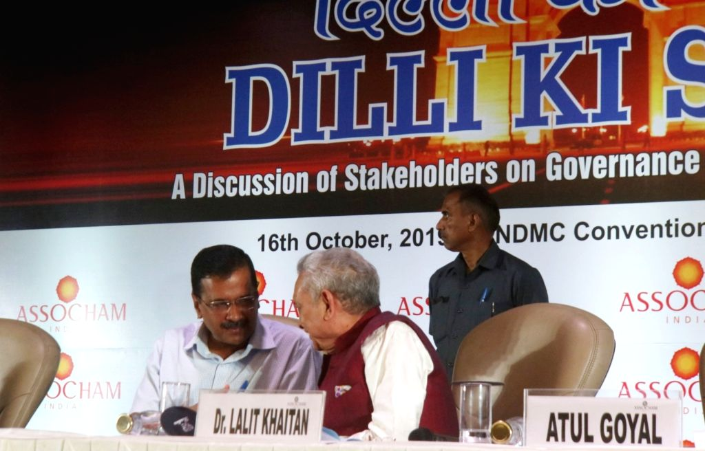 Delhi Chief Minister Arvind Kejriwal in a conversation with Radico Khaitan Limited CEO Lalit Khaitan during a 'Discussion of Stakeholders on Delhi???s Governance & Development' ??? ... - Arvind Kejriwal