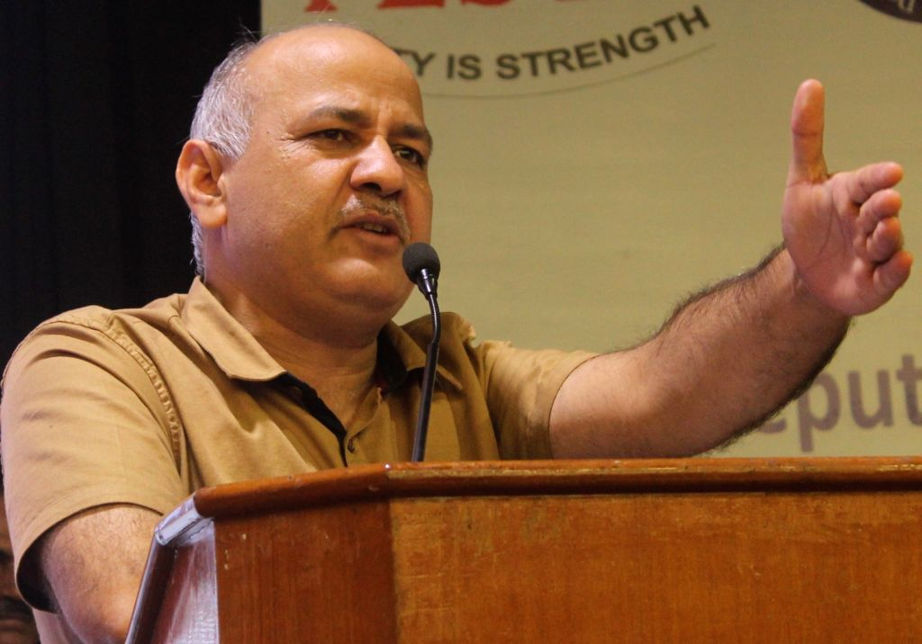 Delhi Chief Minister Manish Sisodia  addresses during a GST Workshop at NDMC Convention Hall in New Delhi, on June 22, 2017. - Manish Sisodia