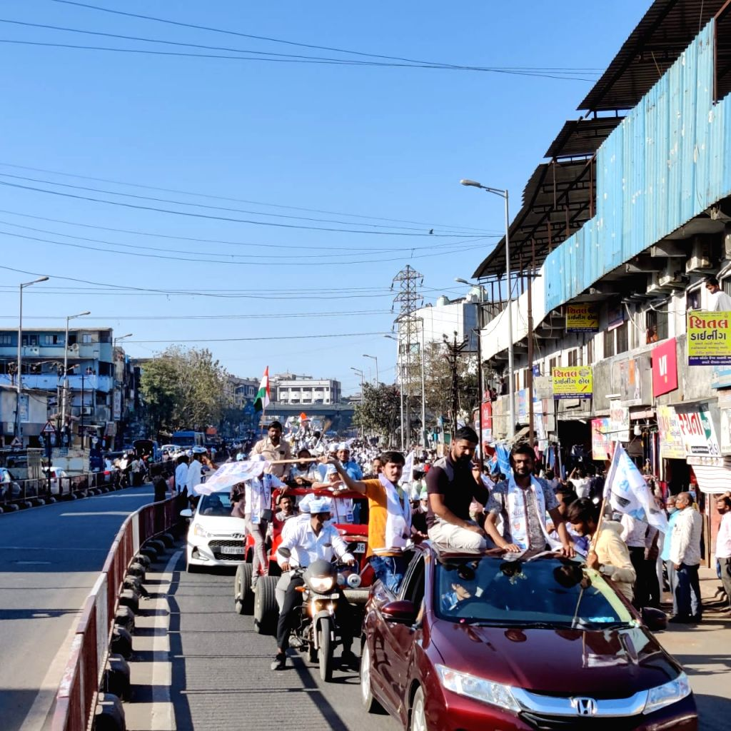 Delhi CM Arvind Kejriwal rally in Surat, Gujarat - Arvind Kejriwal
