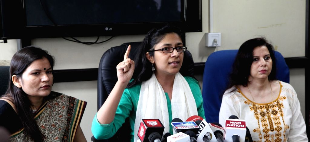 Delhi Commission for Women Swati Maliwal addresses a press conference in New Delhi on Sept 22, 2016.