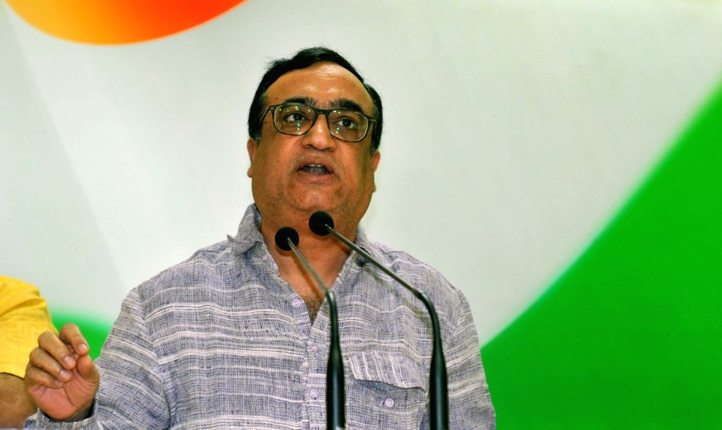 Delhi Congress chief Ajay Maken addresses a press conference in New Delhi on June 30, 2016.