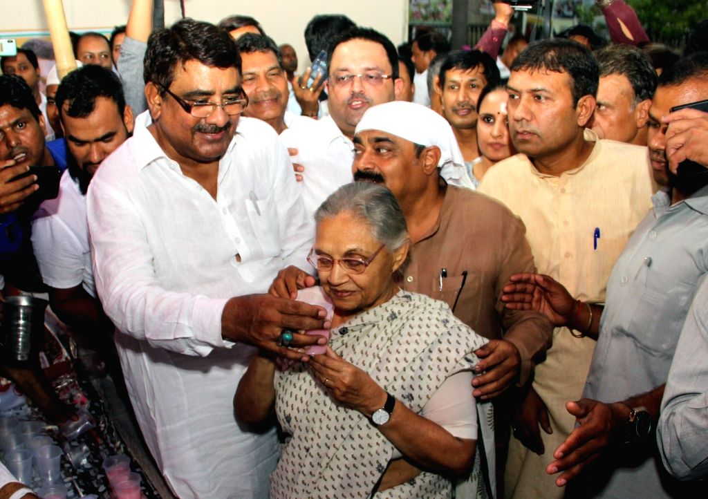 Delhi Congress President Sheila Dikshit attends an iftar party organised at party's headquarters in New Delhi, on May 31, 2019. - Sheila Dikshit