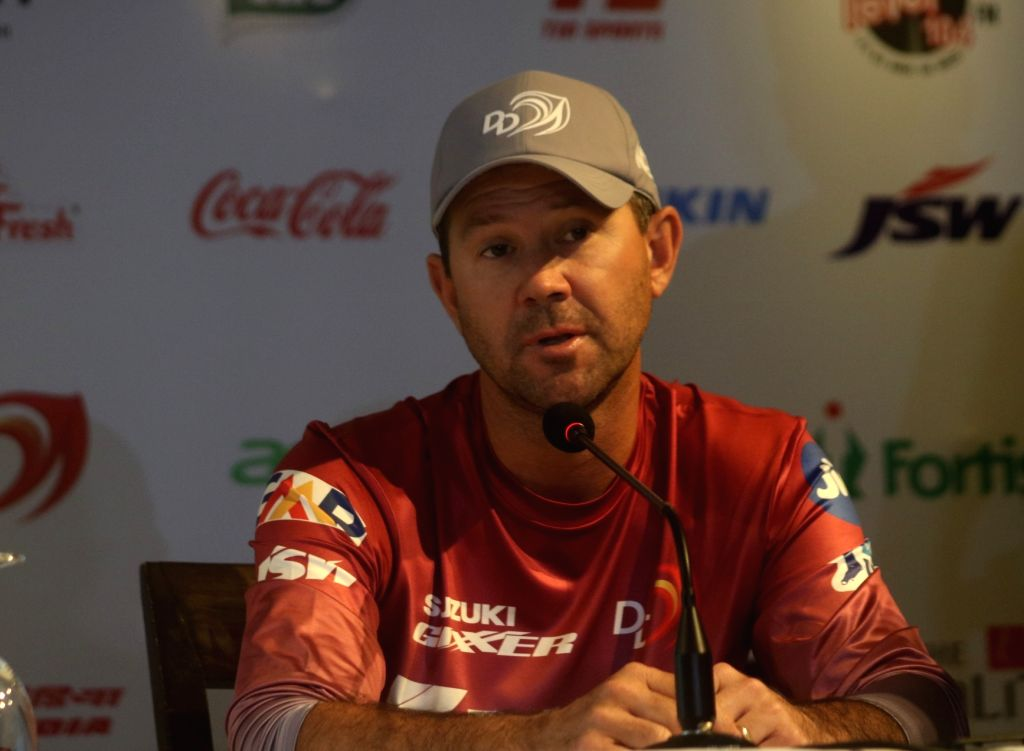Delhi Daredevils head coach Ricky Ponting during a press conference at the launch of the team's anthem ahead of IPL 2018, in New Delhi on April 5, 2018.