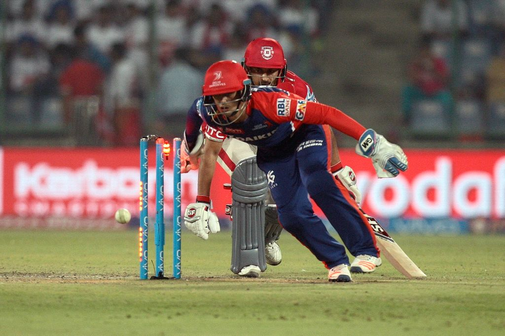 Delhi Daredevils player Quinton de Kock during an IPL match between Delhi Daredevils and Kings XI Punjab at Feroz Shah Kotla Stadium in New Delhi on April 15, 2016.
