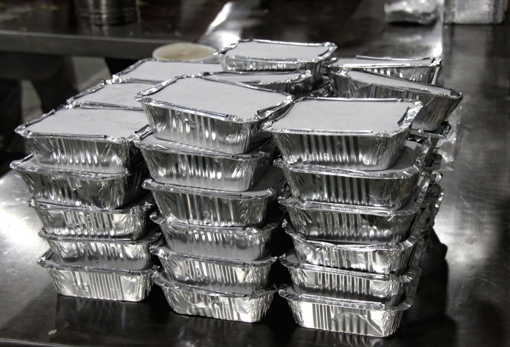Delhi: Delhi Sikh Gurudwara Prabandhak Committee has making food for Langer, started a separate 'Langar sewa' for COVID-19 positive patients across the national capital at Bangla Sahib Gurudwara in new Delhi on Thursday April 22, 2021.(Photo: Wasim S