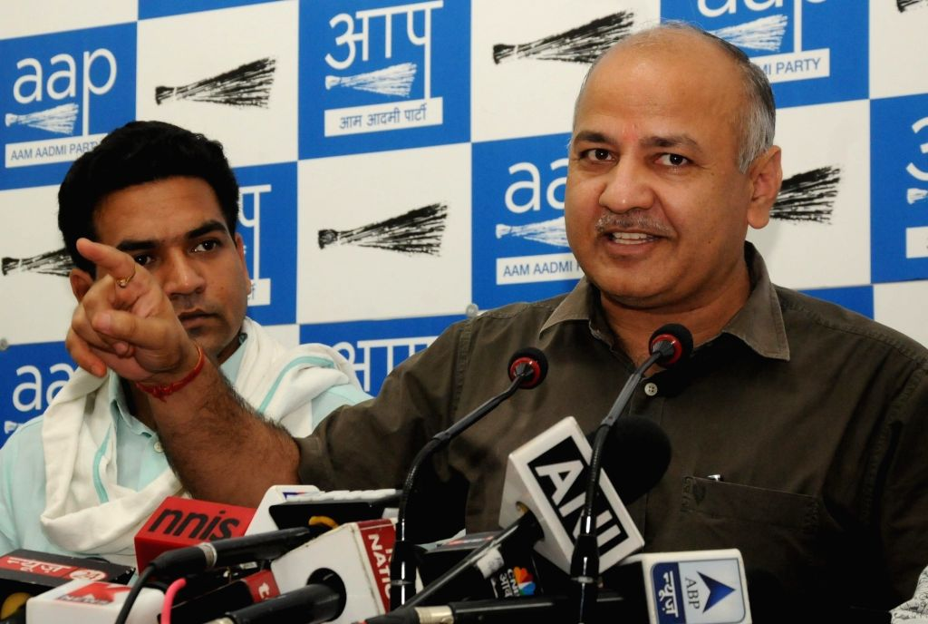 Delhi Deputy Chief Minister and AAP leader Manish Sisodia addresses a press conference in New Delhi on Sept 11, 2016.