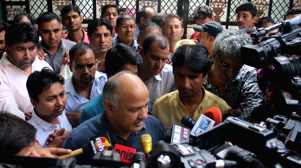 New Delhi: Aam Aadmi Party's PAC meeting - Manish Sisodia