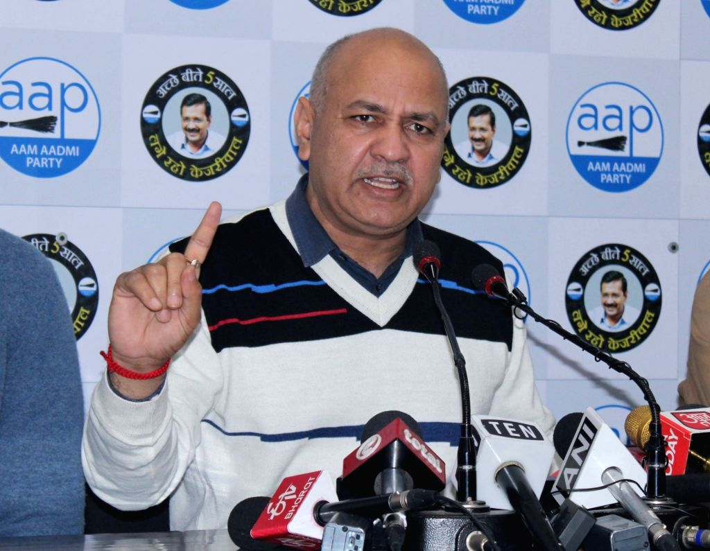 Delhi Deputy Chief Minister and AAP leader Manish Sisodia addresses a press conference in New Delhi on Jan 10, 2020.