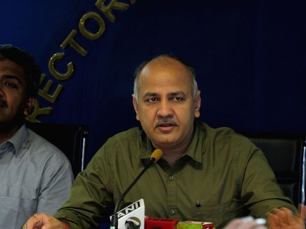 Delhi Deputy Chief Minister Manish Sisodia addresses a press conference in New Delhi Nov 1, 2016. - Manish Sisodia