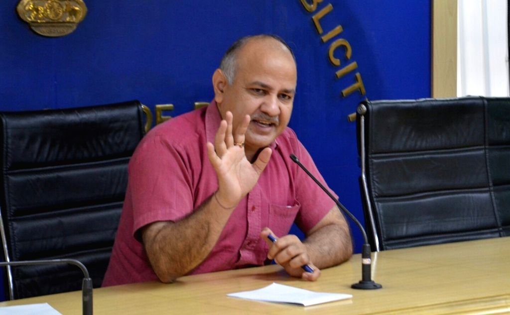 Delhi Deputy Chief Minister Manish Sisodia addresses a press conference in New Delhi on May 13, 2017. - Manish Sisodia