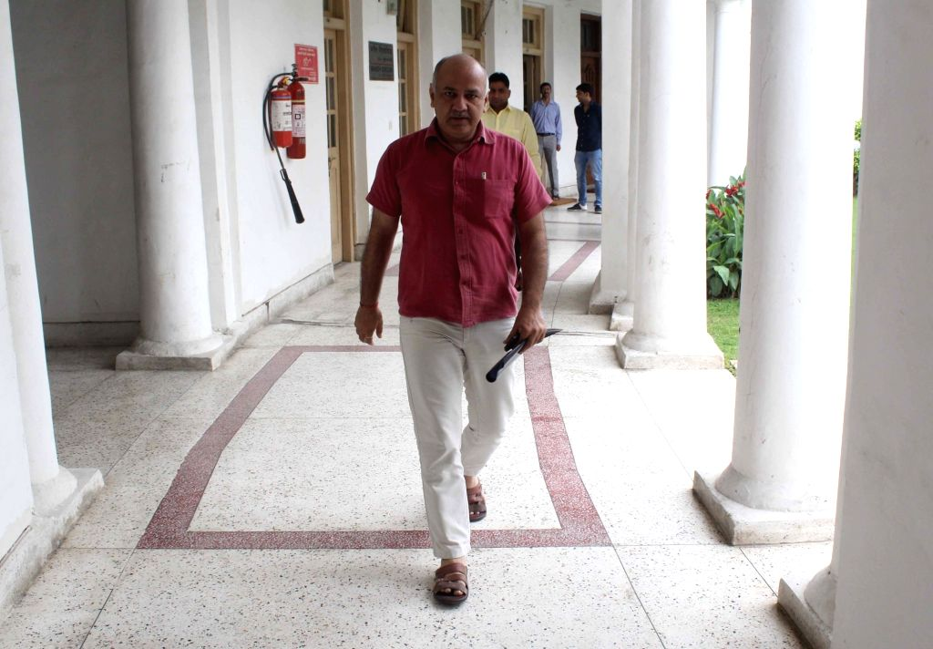 Delhi Deputy Chief Minister Manish Sisodia arrives to attend two-day long session of State Assembly in New Delhi on June 29, 2017. - Manish Sisodia