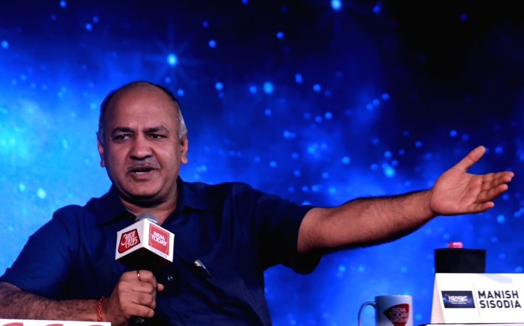 Delhi Deputy Chief Minister Manish Sisodia addresses during India Today's Midnight Conclave on GST in New Delhi, on June 30, 2017. - Manish Sisodia
