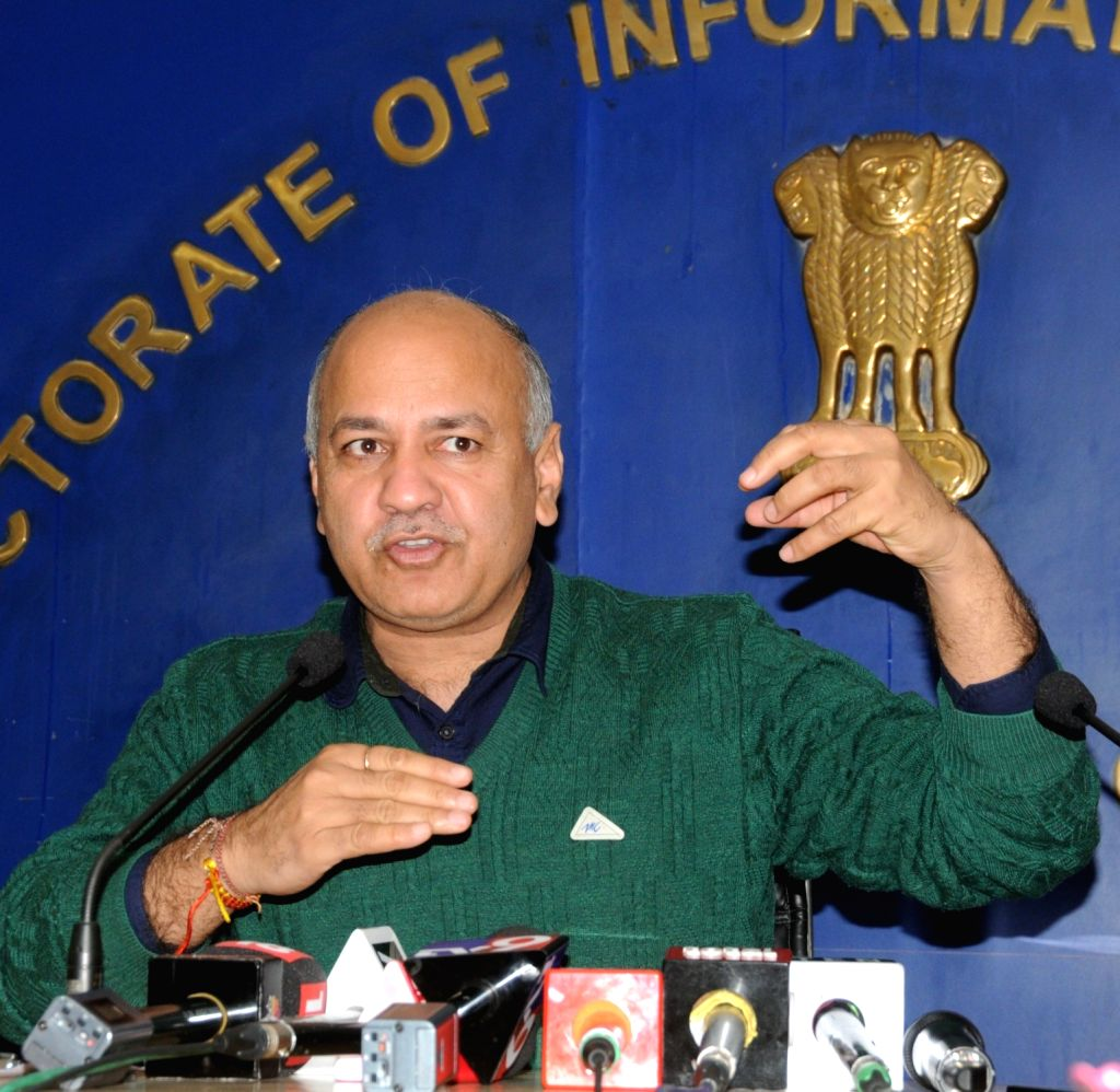 Delhi Deputy Chief Minister Manish Sisodia addresses a pres conference after 33rd GST Council meeting in New Delhi on Feb 20, 2019. - Manish Sisodia