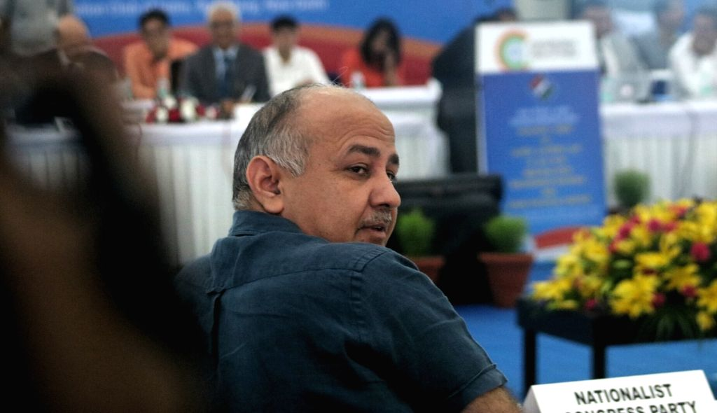 Delhi Deputy Chief Minister Manish Sisodia  at the all party meeting with the Election Commission on the issue of alleged EVM tampering in New Delhi on May 12, 2017. - Manish Sisodia