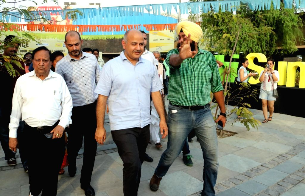 Delhi Deputy Chief Minister Manish Sisodia comes out from Dilli Haat after inaugurating the Mango festival in New Delhi on June 24, 2016. - Manish Sisodia