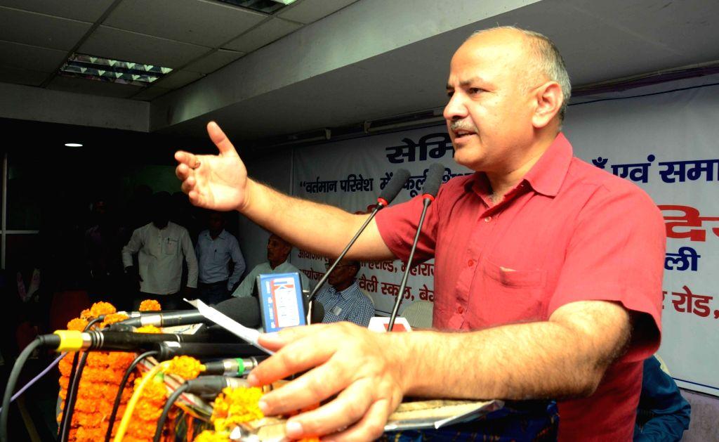 Delhi Deputy Chief Minister Manish Sisodia. (File Photo: IANS) - Manish Sisodia