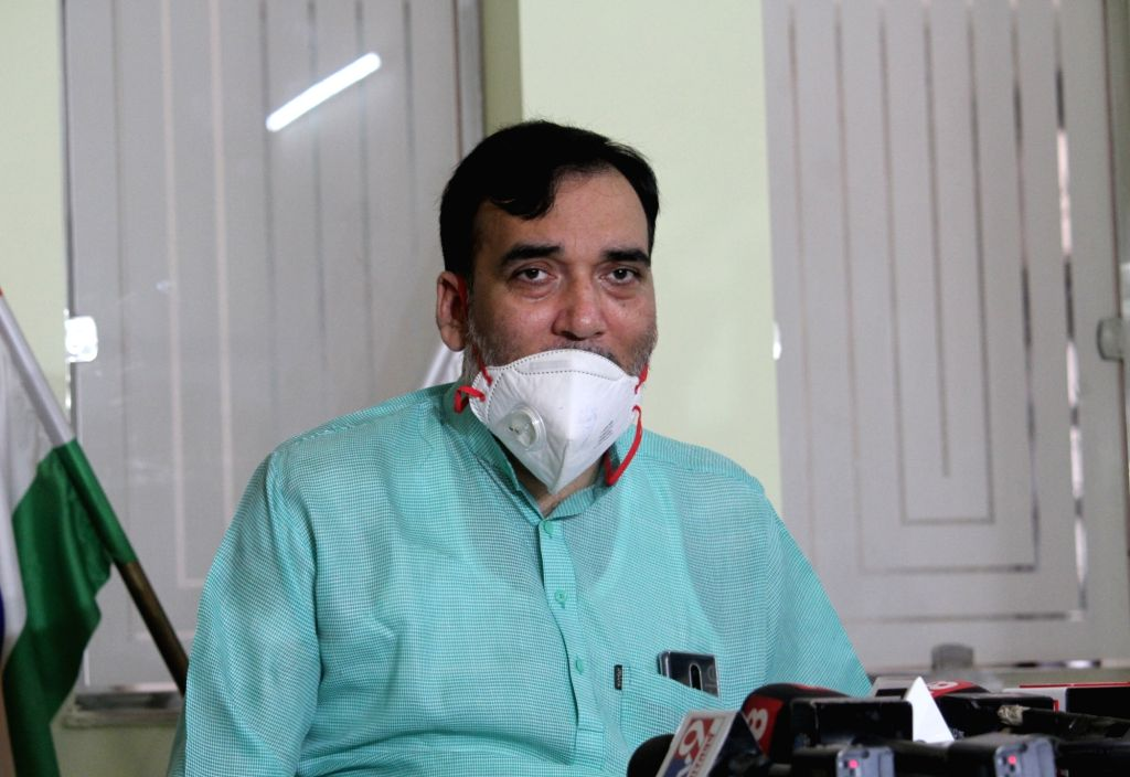 Delhi Employment, Development, Labour, General Administration and Irrigation Minister Gopal Rai addresses a press conference, in New Delhi on Aug 7, 2020. (Photo: IANS) - Gopal Rai