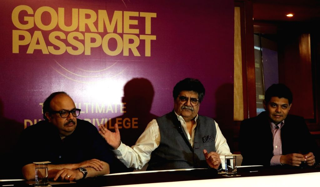 "Delhi Gourmet Club founder and brand ambassador of Old Monk Rum Rocky Mohan and former Samajwadi Party MP Amar Singh during a press conference regarding  ""Gourmet Passport App"" ... - Amar Singh"