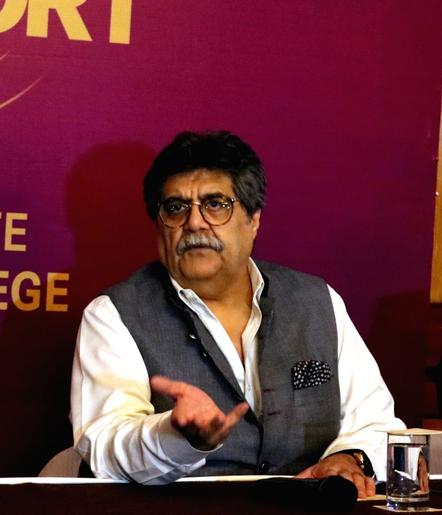 "Delhi Gourmet Club founder and brand ambassador of Old Monk Rum Rocky Mohan addresses a press conference regarding  ""Gourmet Passport App"" in New Delhi, on April 20, 2016."