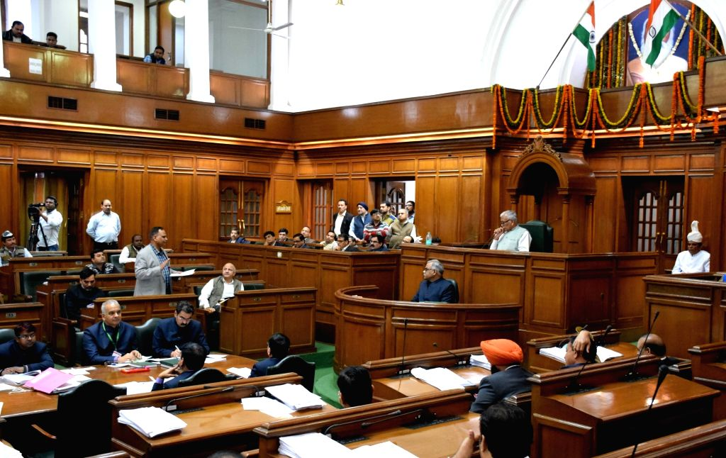 Delhi Health Minister Satyendar Jain during budget session of Delhi Legislative Assembly on Feb 25, 2019. - Satyendar Jain