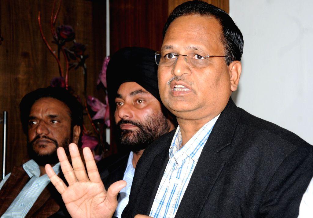Delhi Health Minister Satyendra Jain.(File Photo: IANS) - Satyendra Jain