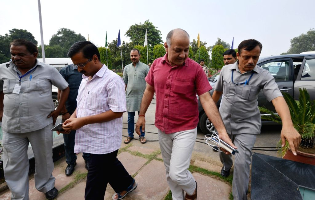Delhi Home Satyendra Jain arrives at Delhi Assembly to attend a special session in New Delhi, on Sept 30, 2016. - Home Satyendra Jain
