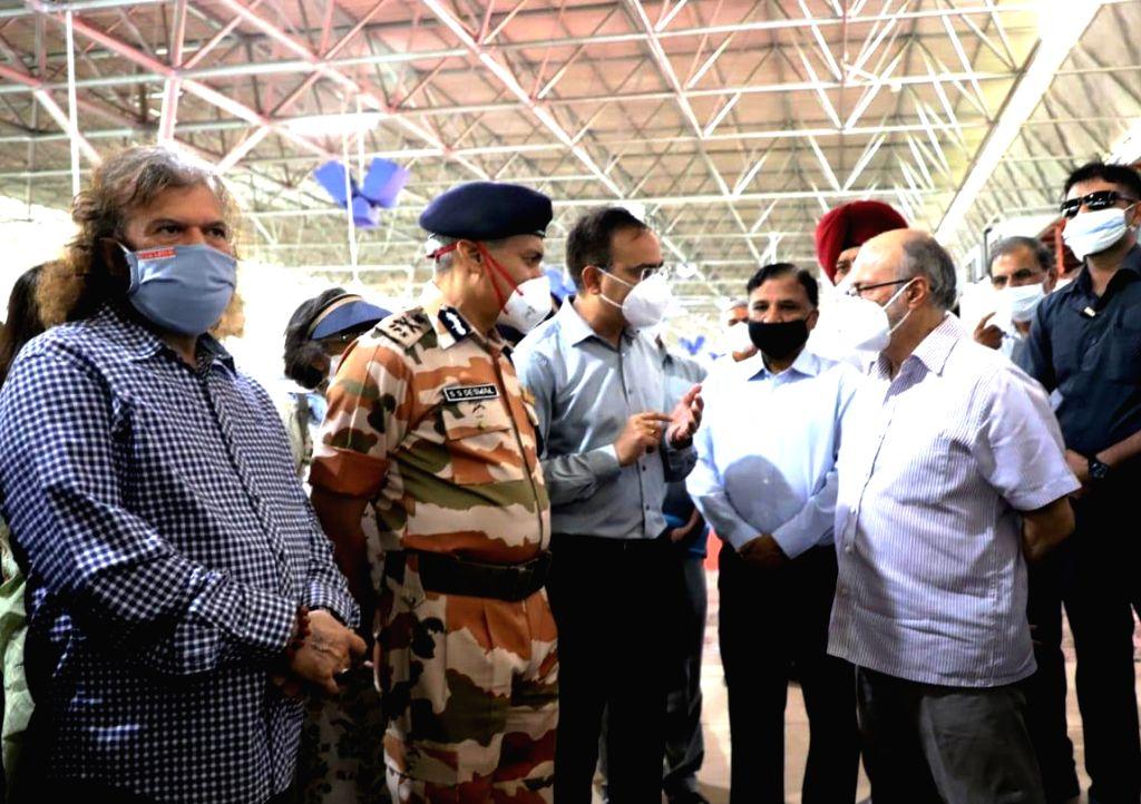 Delhi Lieutenant Governor Anil Baijal at the inauguration of the 10,000-bed Sardar Patel COVID-19 care centre at the Radha Soami Satsang Beas complex in South Delhi's Chattarpur area, on ... - Sardar Patel C