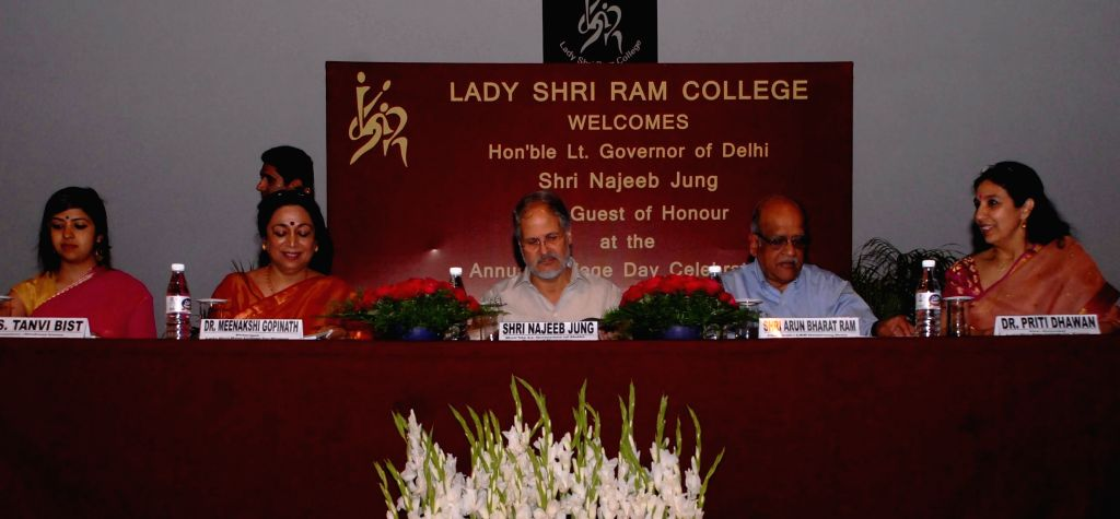 Delhi Lt Governor Najeeb Jung during the Annual Day Function of Lady Shri Ram College for Women in New Delhi on April 11, 2014.