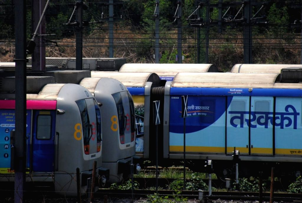 Delhi metro park in New Delhi on Sunday, 09 May,2021.