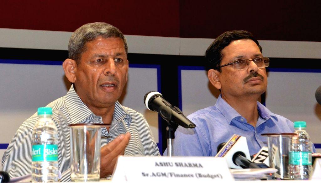 Delhi Metro Rail Corp (DMRC) AGM/Finance Ashu Sharma addresses a press conference regarding hike in metro fare in New Delhi on May 8, 2017. Delhi Metro hiked its fare by up to 66 per cent, ... - Ashu Sharma