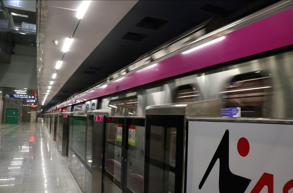 Delhi metro's magenta line. (File Photo: IANS)