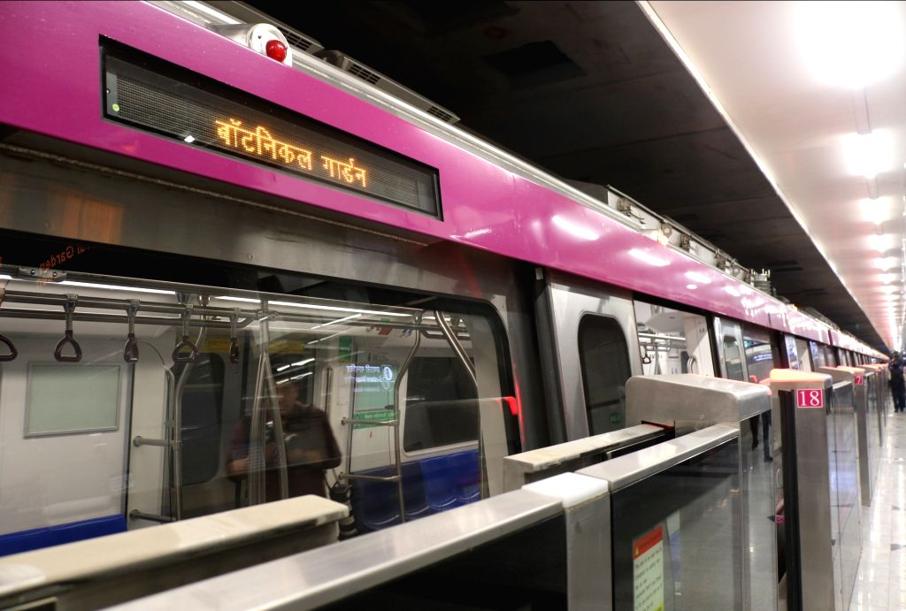 Delhi metro's magenta line. (File Photo: IANS)