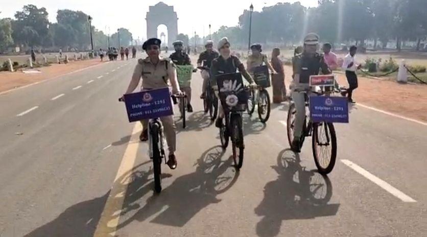 Delhi police acknowledge the women power on International Women's Day