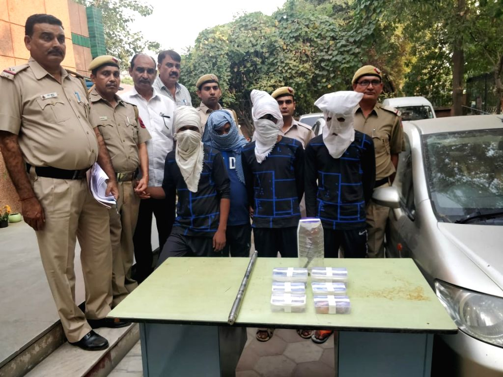 Delhi police arrests three notorious criminals with weapons, on Oct 25, 2019.