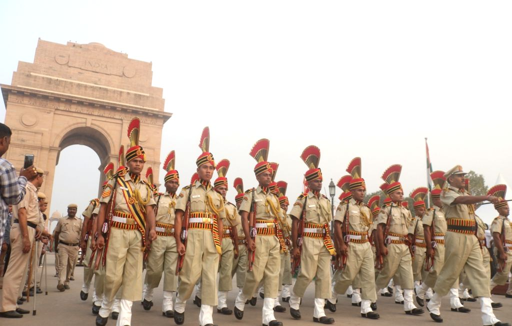 Delhi Police Band marches past India Gate during a programme organised on the occasion of Rashtriya Ekta Diwas - birth anniversary of the country's first Home Minister Sardar Vallabhbhai ... - Sardar Vallabhbhai Patel