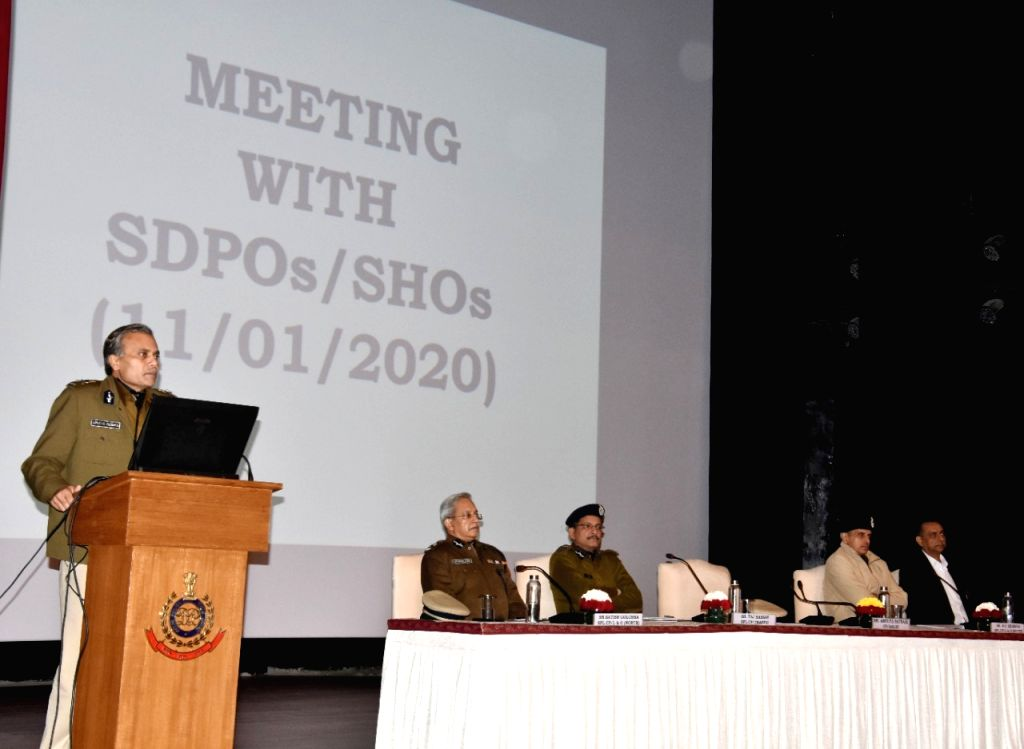 Delhi Police Commissioner Amulya Patnaik addresses the SDPOs & SHOs in connection with arrangements for Delhi Legislative Elections 2020 & implementation of anti ??? terrorist ...