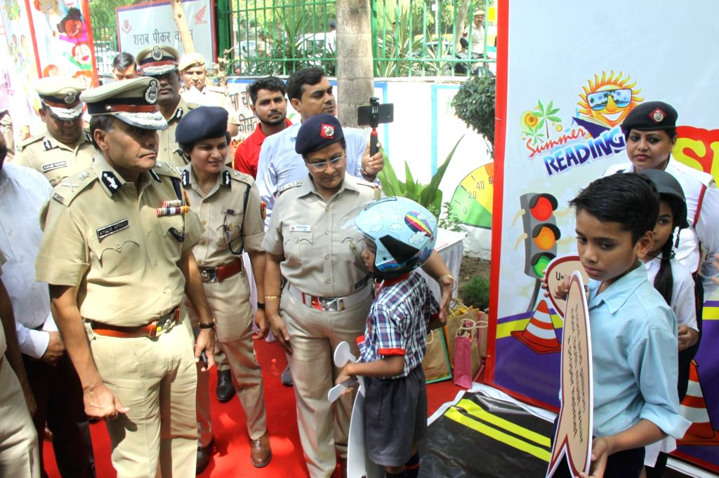 Delhi Police Commissioner Amulya Patnaik at the inauguration of Road Safety Awareness Summer Camp 2019 at Traffic Training Park, in New Delhi on May 31, 2019.