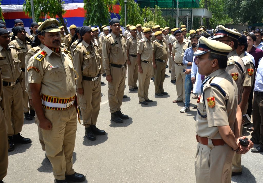 Delhi Police Commissioner Amulya Patnaik during a programmme organised to launch 'Parakram' vans at Police Headquarters in New Delhi, on May 25, 2017.