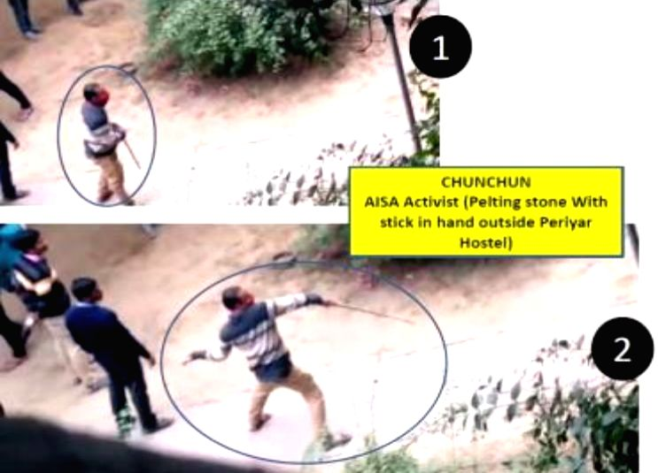 Delhi Police releases pictures of JNU violence suspects.