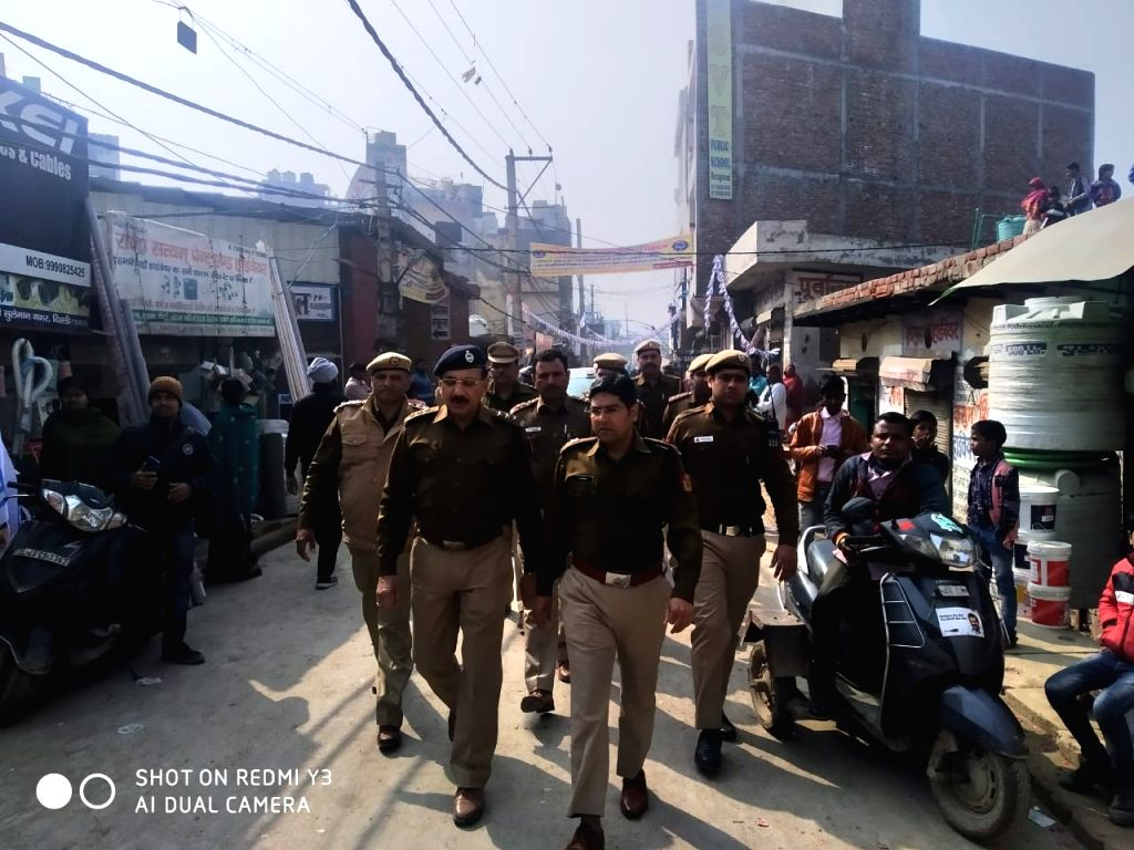 Delhi Police Security Arrangements Made For Upcoming Delhi Assembly Election in Rohini district.