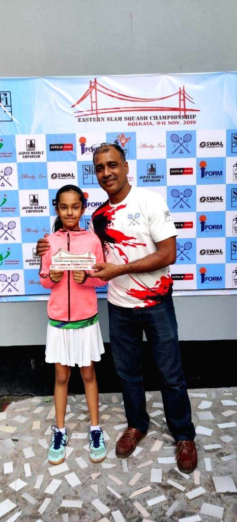 Delhi's Anahat Singh who along with her sister soared high with title wins in the finals of the Northern India Squash Championship held at Gymkhana Club, New Delhi on Wednesday. Dutch Junior Championships bronze medallist Amira Singh playing in the g - Anahat Singh, Amira Singh and Advita Sharma