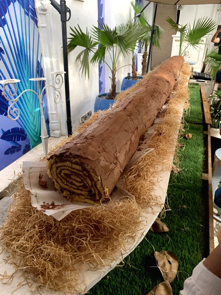 Delhi's giant chocolate roll. (Source: Olive Kitchen and Bar)