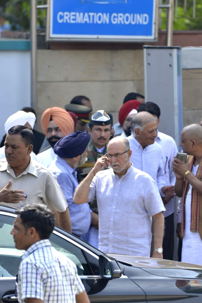 Delhi's Lieutenant Governor Anil Baijal during the state funeral of Marshal of the Indian Air Force (IAF) Arjan Singh at Brar Square in New Delhi on Sept 18, 2017. - Arjan Singh