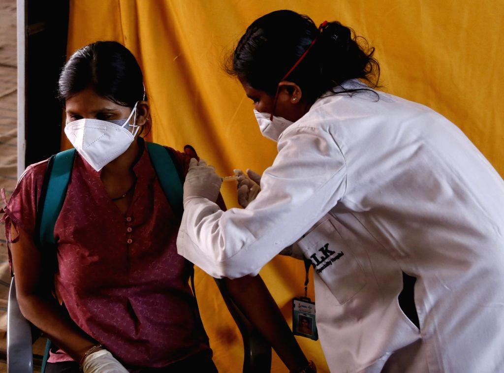 Delhi's Rajinder Nagar gets another vaccination centre. (Photo: Wasim Sarvar/ IANS)