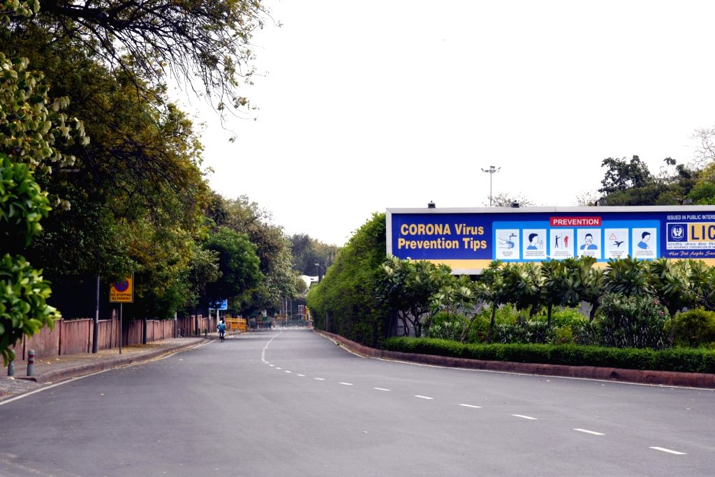 Delhi's Sikandra Road bears a deserted look on Day 2 of the 21-day nationwide lockdown imposed by the Narendra Modi government over the coronavirus pandemic; in on March 26, 2020. - Narendra Modi