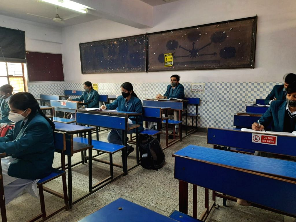 Delhi students excited to be back in schools