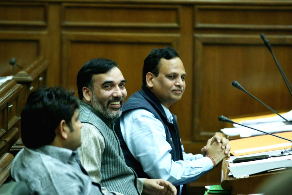 Delhi Transport Minister Gopal Rai during the winter session of Delhi Assembly on Nov 23, 2015. - Gopal Rai