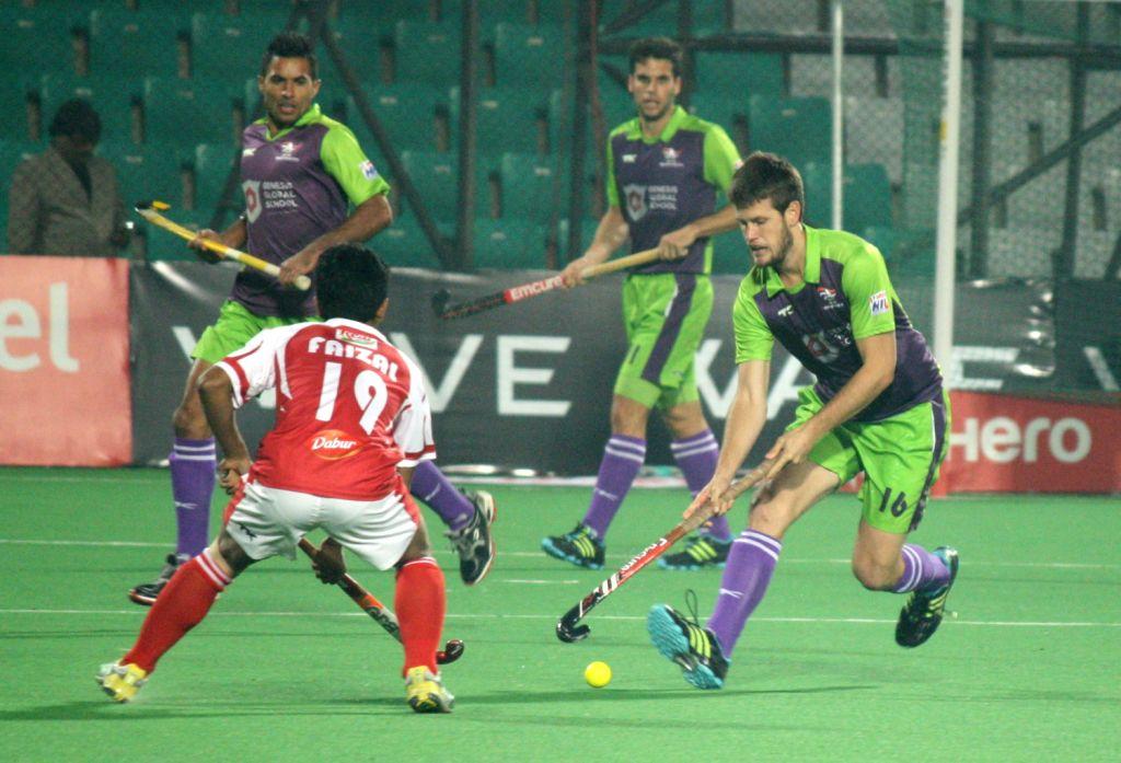 Delhi Waveriders VS Mumbai Magicians match at Hero Hockey India League, in New Delhi. (Photo:IANS/Amlan)